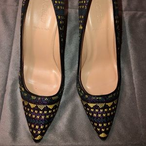J Crew Tweed Pumps